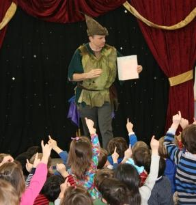 Arnie shows the real magic as the children are enthralled with Peter Pan.