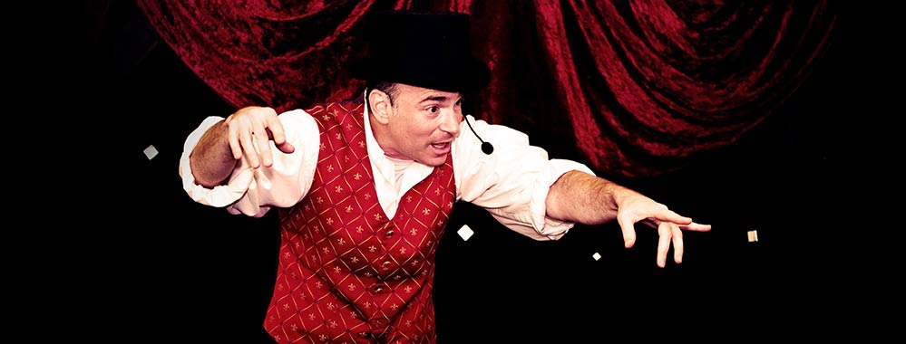 Arnie the Magician in a classic magic show for children.