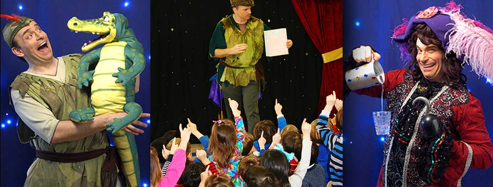 Arnie performs a magic show as Peter Pan and Captain Hook